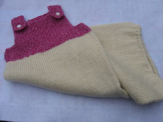 SALE Hand knit wool snuggle sack