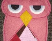 Vintage Suit Coat OWL Bag