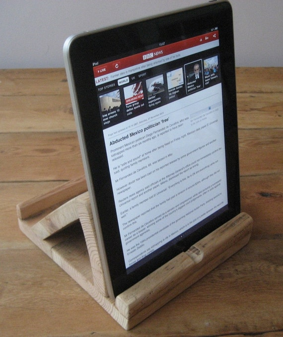 iPad Tablet Stand in Reclaimed Timber