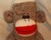 Traditional Red Heel Sock Monkey Stuffed Animal
