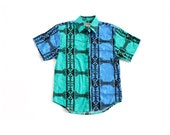 vintage 90's SOUTHWEST OASIS graphic triangle print dyed wrangler shirt