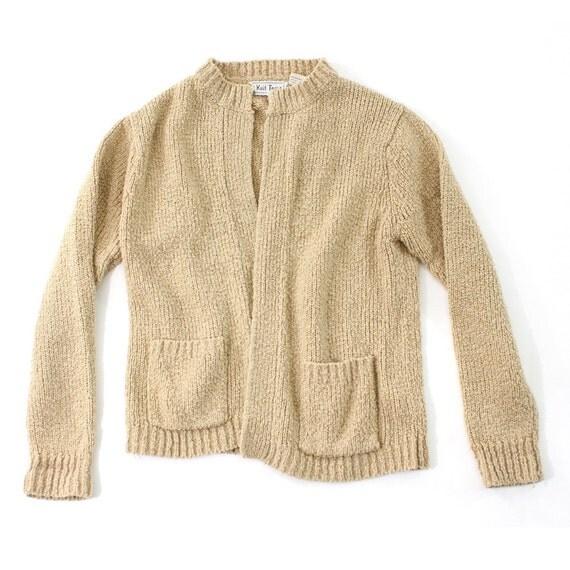 vintage 1970's HARVEST knit cardigan