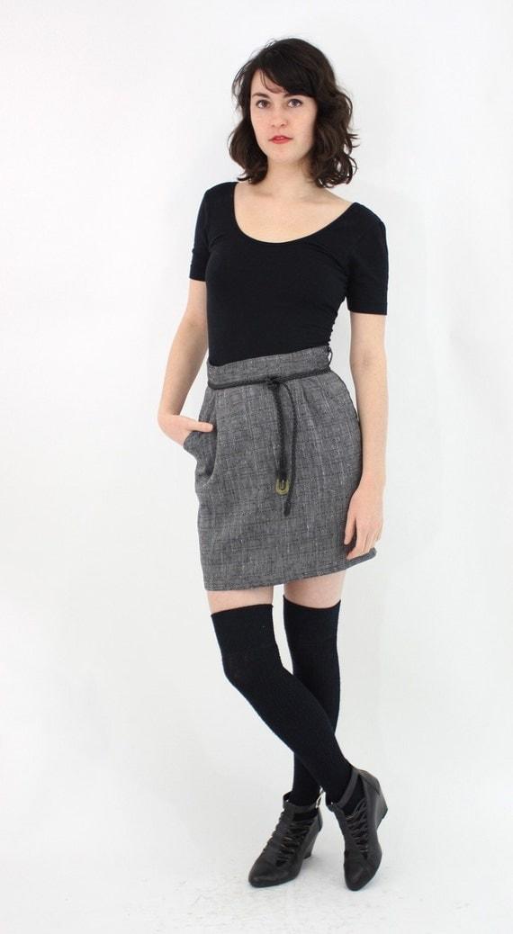 vintage 1980's CHARCOAL mini skirt