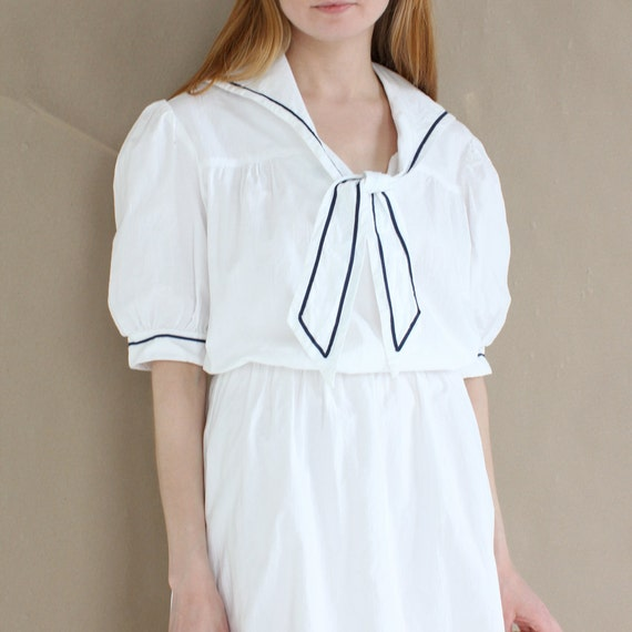 vintage 1970's SEVEN SEAS nautical cotton dress