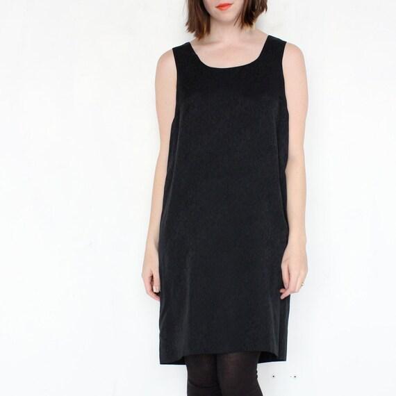 vintage 90's SUBTLE SHEEN minimal print silk shift dress