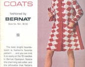 Vintage 1969 Knit and Crochet Coats Pattern Book by Bernat