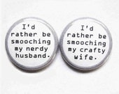 The Dynamic Duo-1 Inch Pinback Buttons For Married Cool People