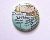 1 Inch Pinback Button - Los Angeles