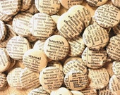RESERVED order for Renee- Vintage Inspired Handmade Wedding Favors -  75 One Inch Pinback Buttons - Words Enough For A Lifetime Together