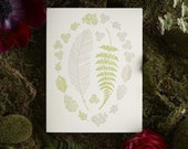 Feather and Fern Letterpress Card