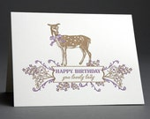 Lovely Lady Bday - Letterpress Greeting Card