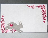 Lovely Rabbit - 6 Letterpress Gift Tags