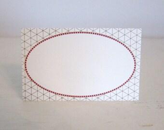 Tulle Frame Letterpress Tags - 6 Pack