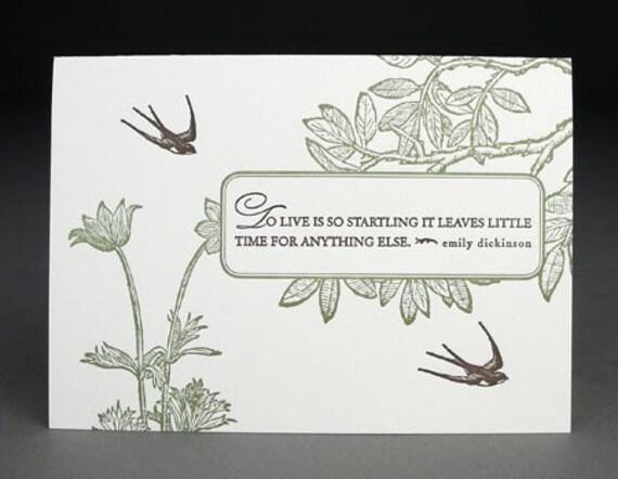 A Startling Life, Letterpress