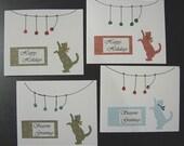 Kitty Christmas - greeting cards - Reserved for vegreenmom