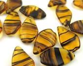 Destash 20 Tortoise Shell Leaf Beads