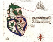 What brings me to you - Heart Map Print