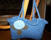 NEW Flowered Felted Handbag I