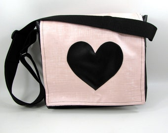 Modern Romance Vinyl Messenger Bag - SALE