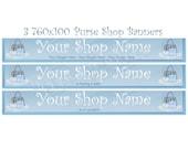 Shop Banner Set - 3 Purse Shop Banner Designs