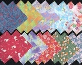 SALE - Pretty KIMONO Design Print JAPANESE Origami Papers - great for embellishment of Cards scrapbooking etc