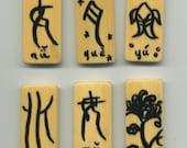 6 Beautiful Handpainted Pendants