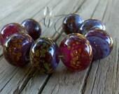 Wild Raspberries Lampwork Beads - Angelfire Art Glass