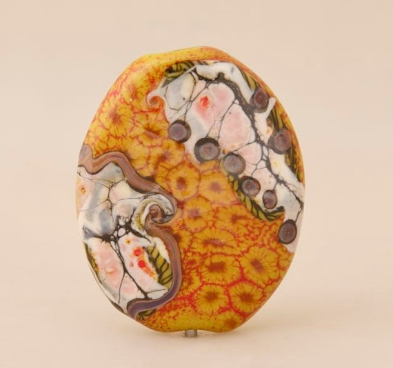 Relic Series Focal Bead- Topography