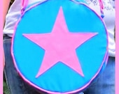Scott Pilgrim - LT BLUE with PINK STAR Purse - Ramona Flowers Cosplay Bag