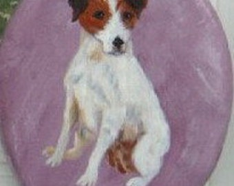 Jack Russell Terrier Dog Painted Key Leash Rack