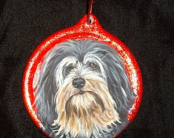 Lowchen Dog Custom Painted Christmas Ornament Decoration