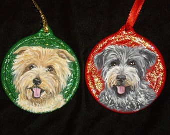 Glen Of Imaal Terrier Dog Custom Painted Christmas Ornament Christmas decoration
