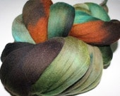 Hand dyed Merino Spinning Wool 4 oz Camo C 4