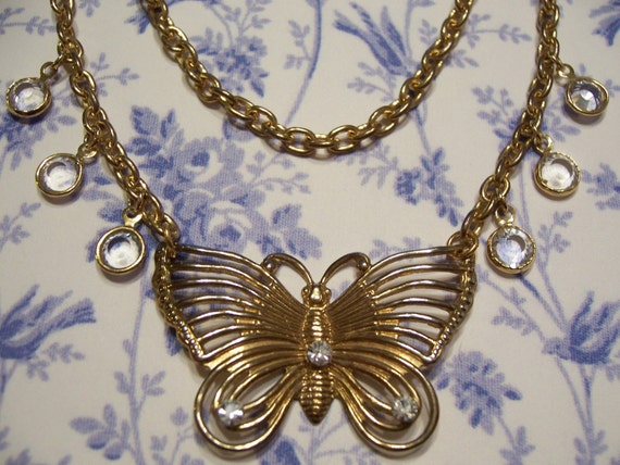 Wings Of The Enchanted Butterfly Vintage Revamp Necklace