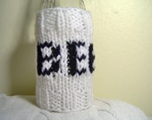 beer cozy -generic black and white