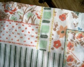 Reclaimed Vintage Curtains Coral and Mint