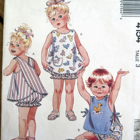 Vintage Toddler S Wrap Sundress Sewing Pattern Uncut