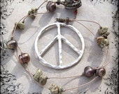 Peace On Earth - Peace Sign Freshwater Pearls Earthy Organic Etsy Necklace Under 50