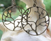Branching Out - Large Brass Tree Branch Filigree Woodland Earthy Etsy Earrings