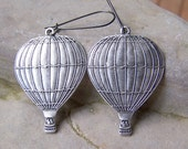 Come Sail Away - Hot Air Balloon Earrings Dreaming Flying Long Earrings Etsy Jewelry Under 15