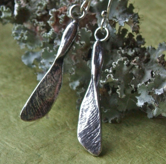 Maple Seed Helicopter Earrings
