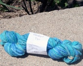 Merino Handspun thick and thin singles Tropical Blue
