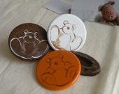 Pin Me.  Chocolate Bear Brooch