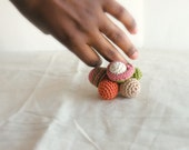 Crochet Ring. Statement Jewelry Personal Ring. Freeform Crochet Ring. Semilla Semilla