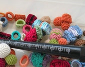 Sample All 7 Simple Crochet Ring Bands. Crochet Jewelry.