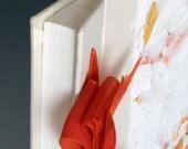 Handmade Photo Album - Orange Oak Leaf - Small