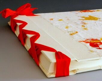 Handmade Photo Album - Orange Oak Leaf - Jumbo