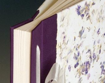 Handmade Photo Album: Purple Larkspur large
