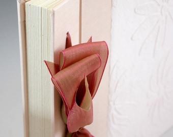 Handmade Photo Album - Pink Embossed Daisy - Small