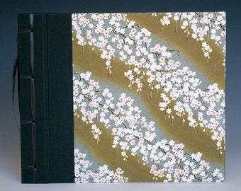 Handmade Photo Album: Black & Red Cherry Blossom large